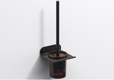 Quick Toilet Brush & Holder - Matt Black