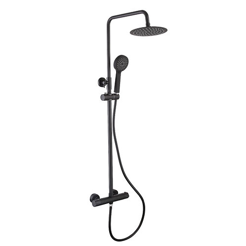 Bathworks Essentials Shower System || Matt Black