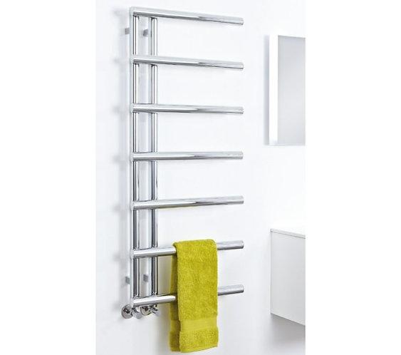 Phoenix Level 1200 x 500mm Designer Heated Towel Rail :: Chrome