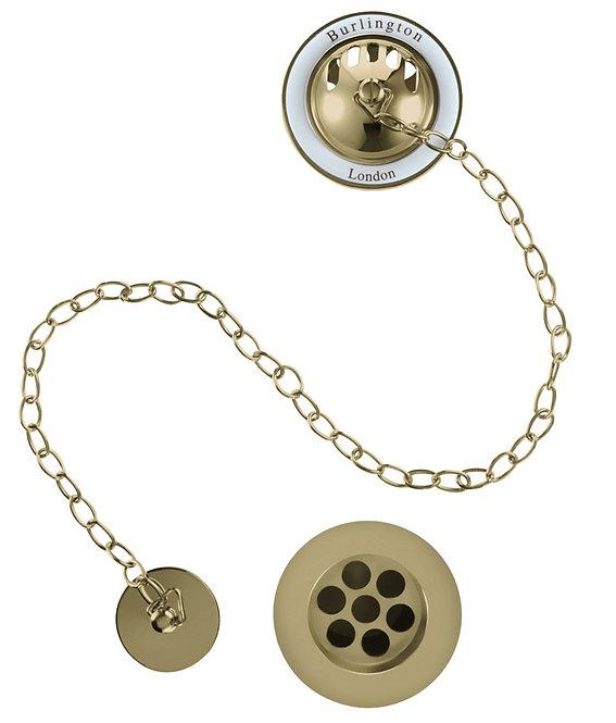 TheBurlington Bath Overflow-Plug-Chain Gold
