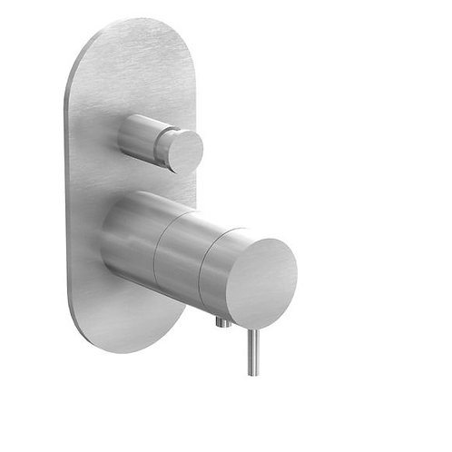 Flow Dual Thermostatic Concealed Shower Valve with Diverter -Stainless Steel