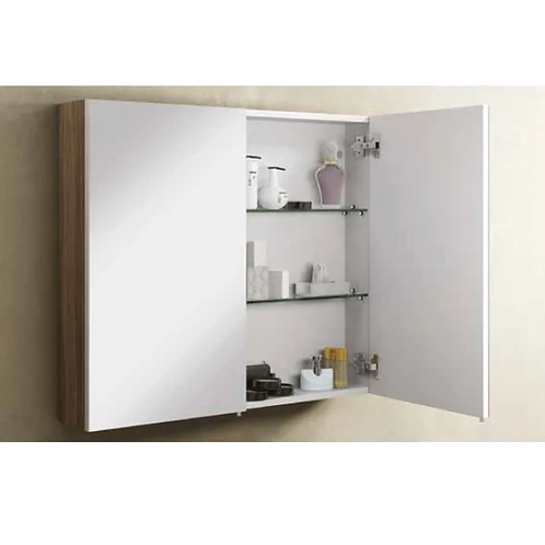 Vitra Classic 1000mm Mirrored Wall Cabinet - Dark Oak