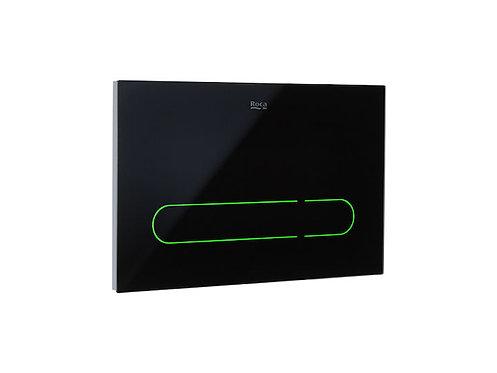 Roca EP1 Touchless Sensor LED Dual Flush Plate - Black