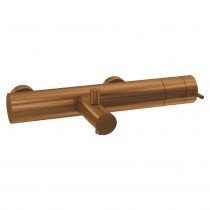 Flow Thermostatic Exposed Bath/ Shower Valve || Brushed Copper PVD