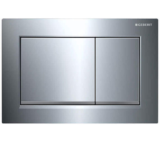 Geberit Omega 30 Dual Flush Plate - Matt Chrome