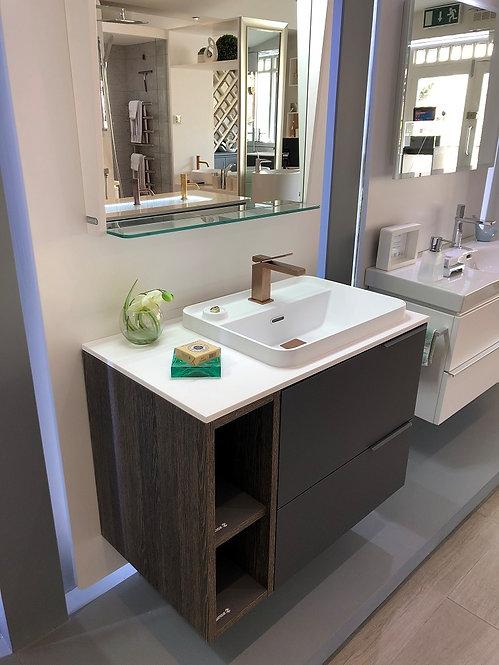 Sonia Evolve 800mm Basin Furniture Unit :: Anthracite Soft