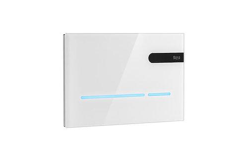 Roca EP2 Touchless Sensor LED Dual Flush Plate - White