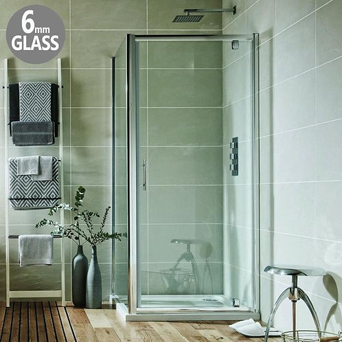 Bathworks Essential:: 800mm Pivot door 6mm glass