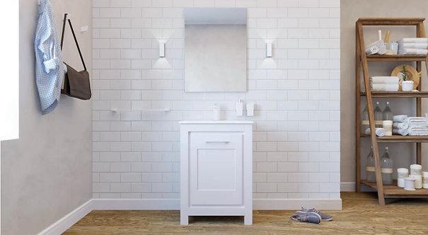 Sonia Essence 600mm Basin Furniture Unit -White / Matt White Handles
