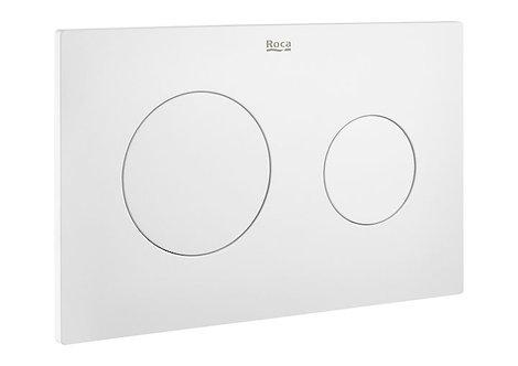 Roca PL10 Dual Flush Plate - Matt White