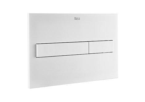Roca PL7 Dual Flush Plate - Matt White