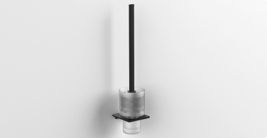 S6 Toilet Brush & Holder - Matt Black