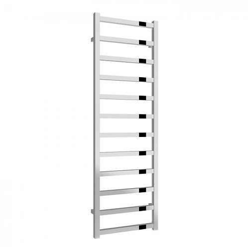 Reina Fano Polished Aluminium Heated Ladder Towel Radiator