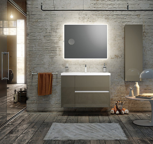 Sonia Code 1000mm Vanity Unit :: Anthracite Gloss