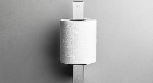 Reframe Spare Toilet Roll Holder || Brushed Steel