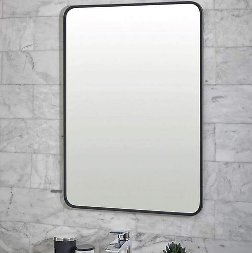 Bathworks Essential Matt Black Mirror:
