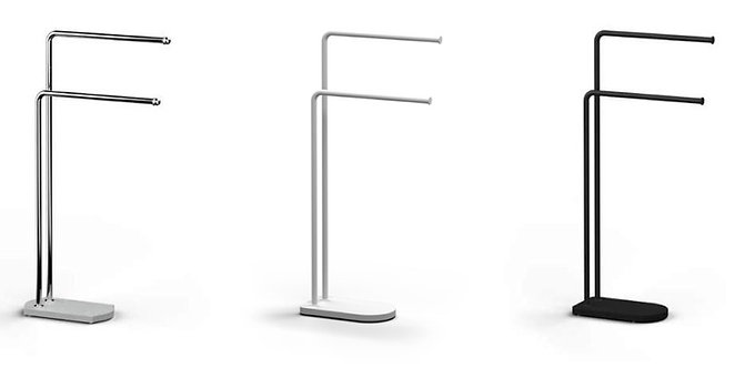 Nomad Vanguard Freestanding Towel Bar Stand White