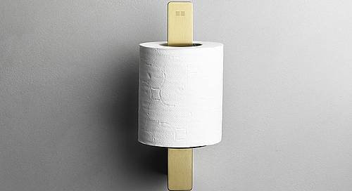 Reframe Spare Toilet Roll Holder || Brass
