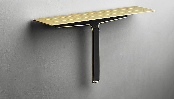 Reframe Shower Shelf & Shower Wiper || Brass