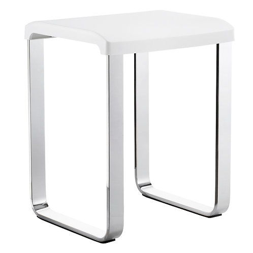 Bathworks Essential :: Modern Freestanding Shower stool square