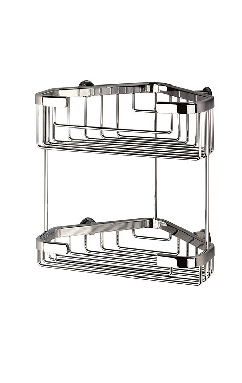 Wire Basket Deep Large Double Tier Corner