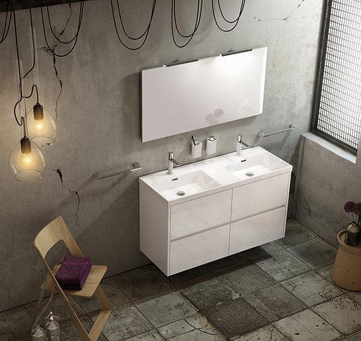 Sonia Code 1200mm Double Vanity Unit :: Gloss White
