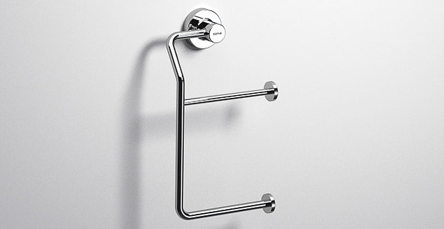 Tecno Project Double Toilet Roll Holder