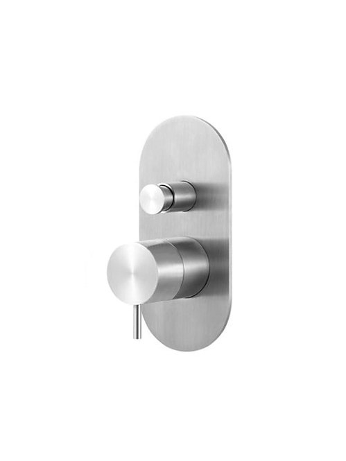Flow wall Mounted Bath Filler  :: Stainless Steel