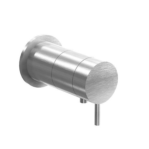 Flow Single Thermostatic Shower Valve - Brushed Stainless Steel