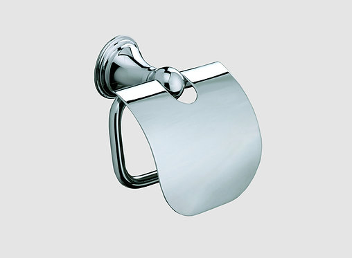 Genoa Toilet Roll Holder With Cover::