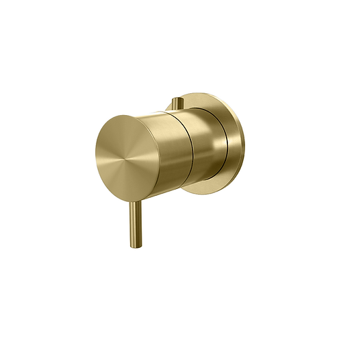 Flow Single Thermostatic Shower Valve :: Brushed Brass