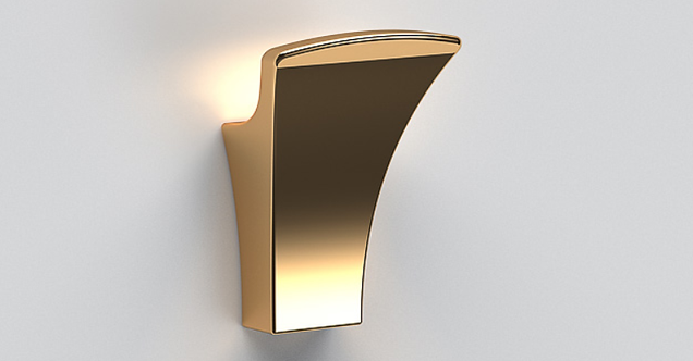 S7 Robe Hook - Polished Gold