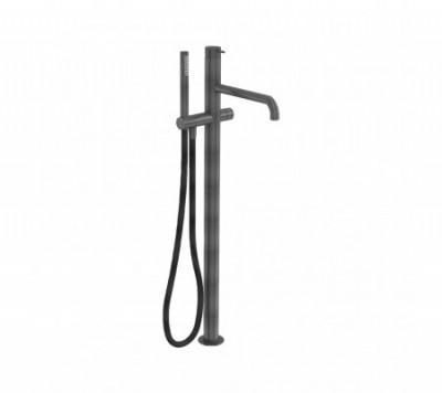 Flow Freestanding Bath Shower Mixer Tap :: Brushed Gunmetal PVD