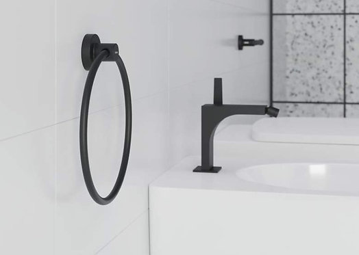Tecno Project Towel Ring 180mm :: Matt Black