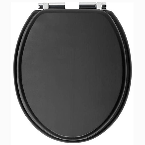 Heritage Soft Close Toilet Seat And Cover With Chrome Hinge - Graphite
