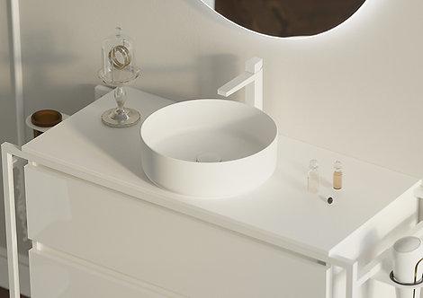 SX12 Round Countertop Basin - Matt White