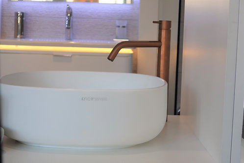 Flow Tall Model Single Lever Basin Monobloc :: Pvd Finishes