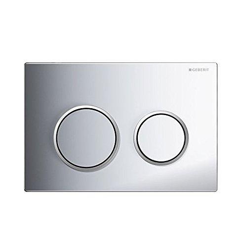 Geberit Omega 20 Dual Flush Plate - Matt Chrome