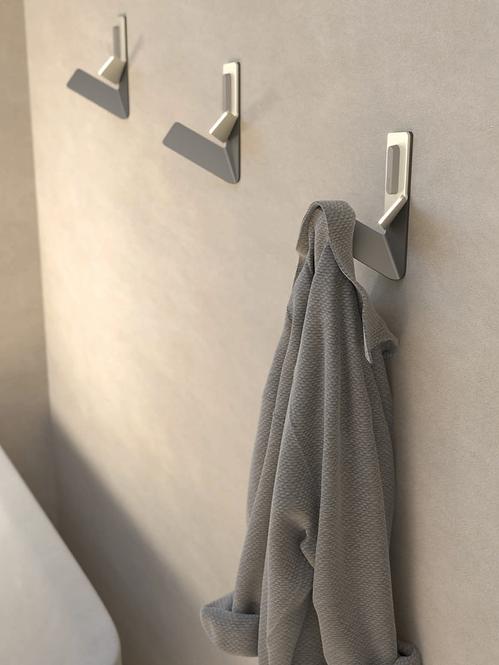 Flama Double Robe Hook - Aluminum Steel