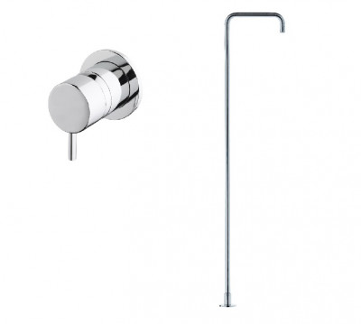 Water evolution Flow Freestanding Basin Spout & Wall Mounted valve :: Chrome