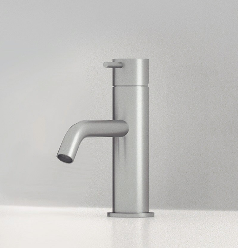 Flow Single Lever Basin Mixer Tap - Brushed stainless steel