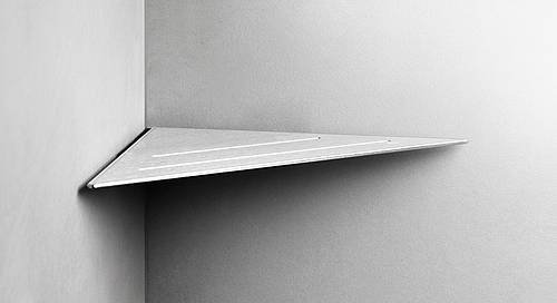 Reframe Corner Shower Shelf || Brushed Steel