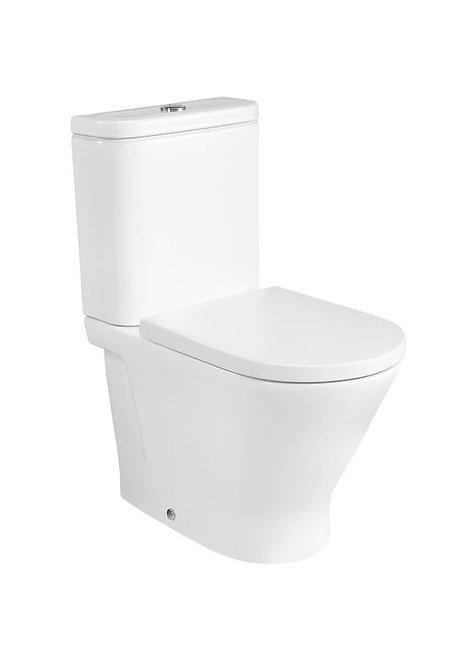 Roca The Gap Round Rimless Compact BTW Close Coupled WC Pan,Cistern & Soft Close