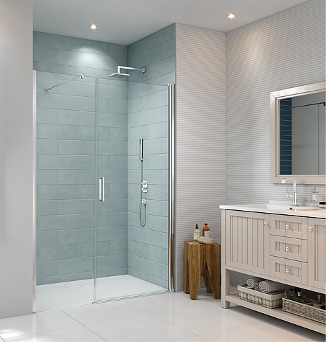 Series 8 Frameless Pivot & Inline Shower Door - 1000mm