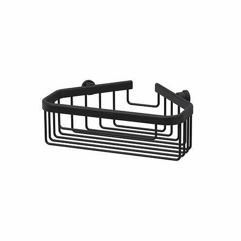 Deep Large Corner Wire Basket || Matt Black