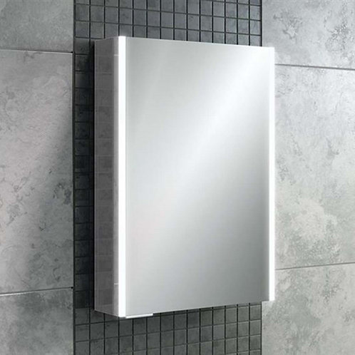 HIB Xenon 50 LED Illuminated Mirror Cabinet with Mirrored Sides