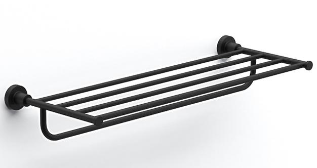 Tecno Project Towel Rack With Rail 660mm    Matt Black