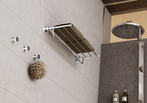 Tecno Project Towel Rack With Rail 450mm :: Chrome