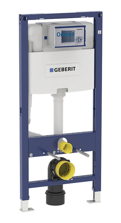 Geberit Duofix 1.12m WC Frame With Omega Dual Flush Cistern