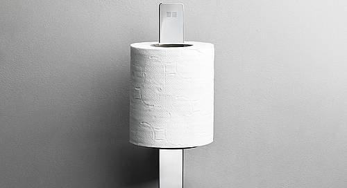 Reframe Spare Toilet Roll Holder || Polished Steel